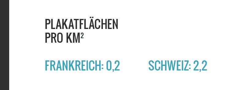 Die Schweiz hat massiv mehr Werbeflächen pro Flächeneinheit als Frankreich. Oder Italien, Deutschland, Grossbritannien, Österreich. www.schoenes-zuerich.ch
